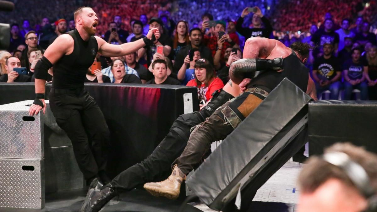 Photos The Hounds Of Justice Are Unleashed On Strowman Ziggler Mcintyre Braun Strowman Drew Mcintyre Dolph Ziggler