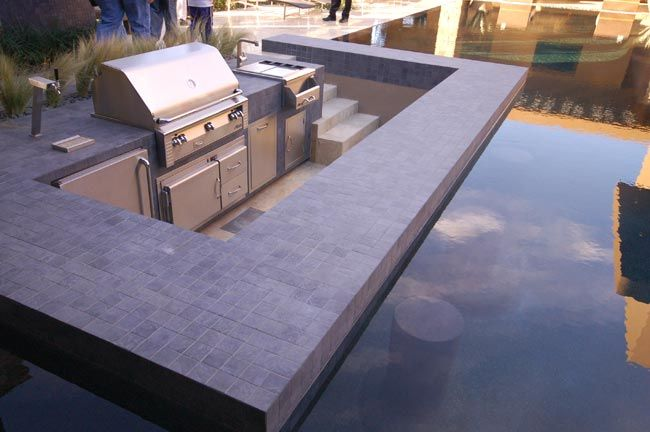 Though Small This Outdoor Kitchen Includes A Kegerator A