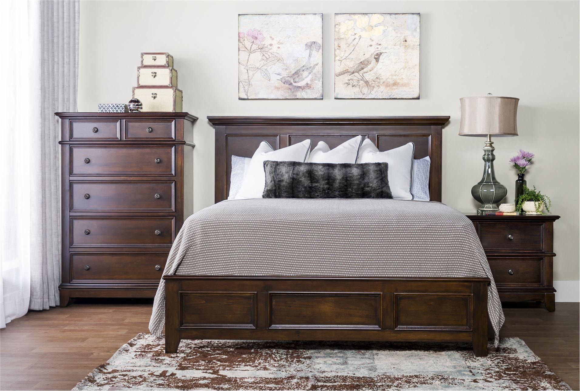 Dalton California King Panel Bed  Living spaces furniture