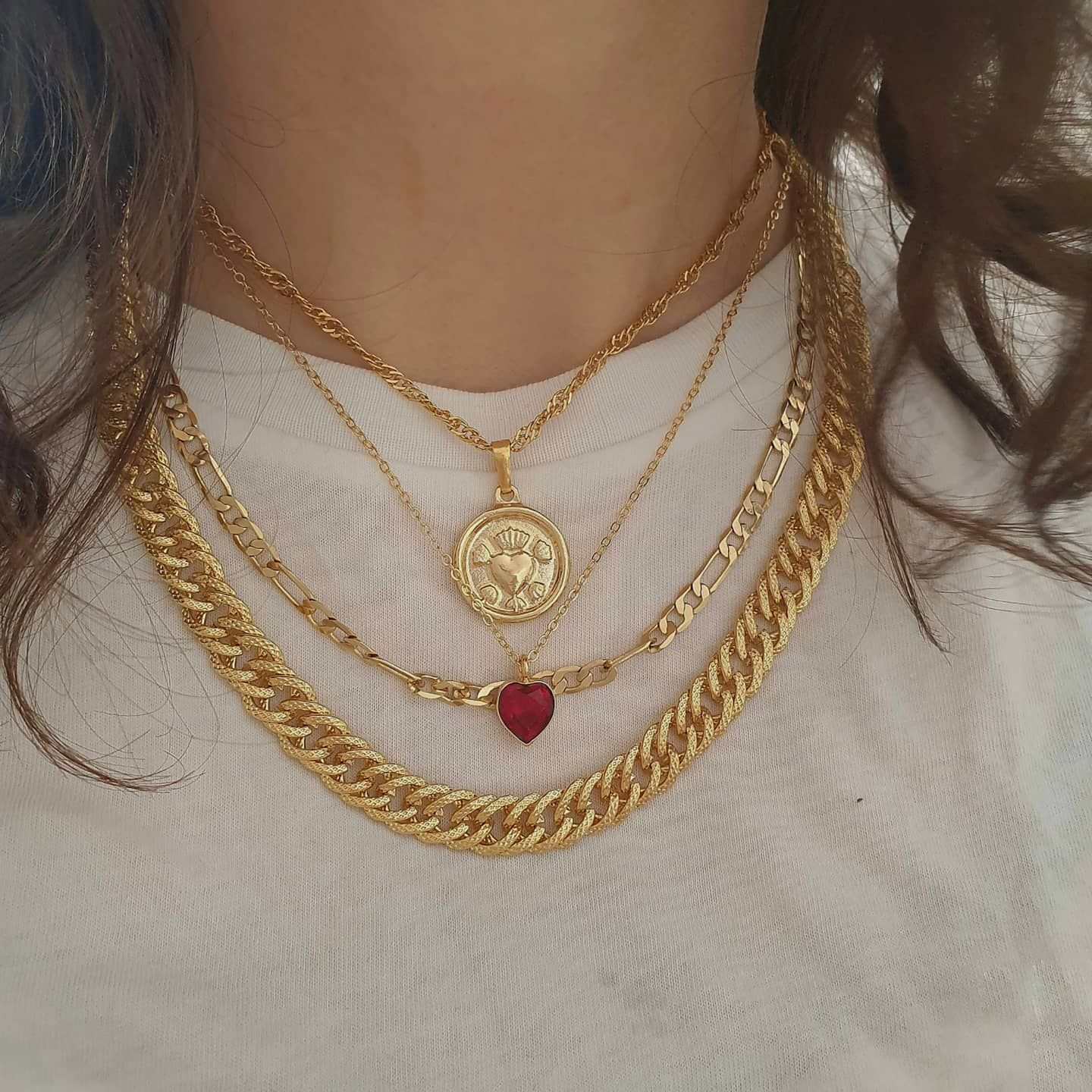 3-1 necklace gold necklace sun necklace Layered Necklace SUN Necklaces Personalized Necklace Birthday Gift for Her ready to ship gift