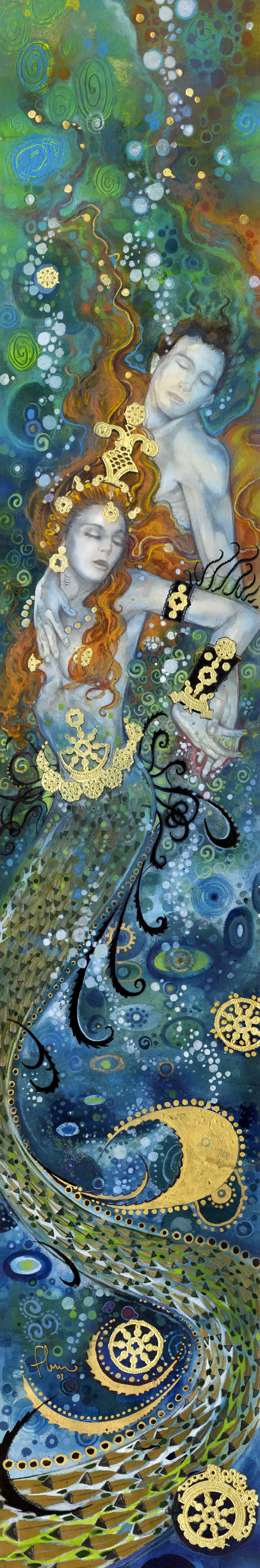"Saatchi Art Artist Tom Fleming; Printmaking, ""Depths of Love"" #art"