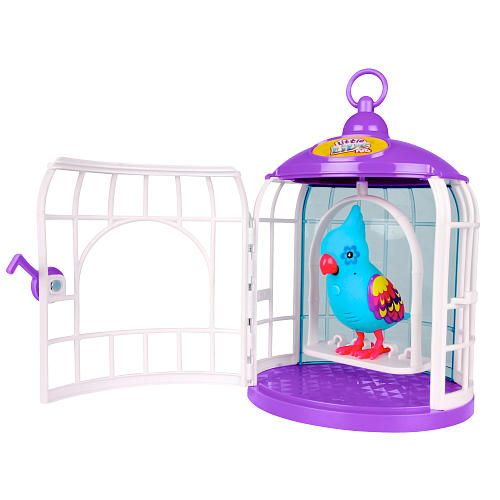 Little Live Pets Season 3 Bird With Cage Funky Feathers Moose
