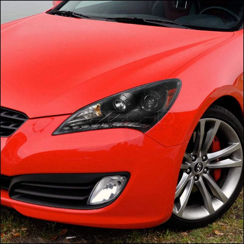 Spec D Projector Headlights Hyundai Genesis Coupe Led