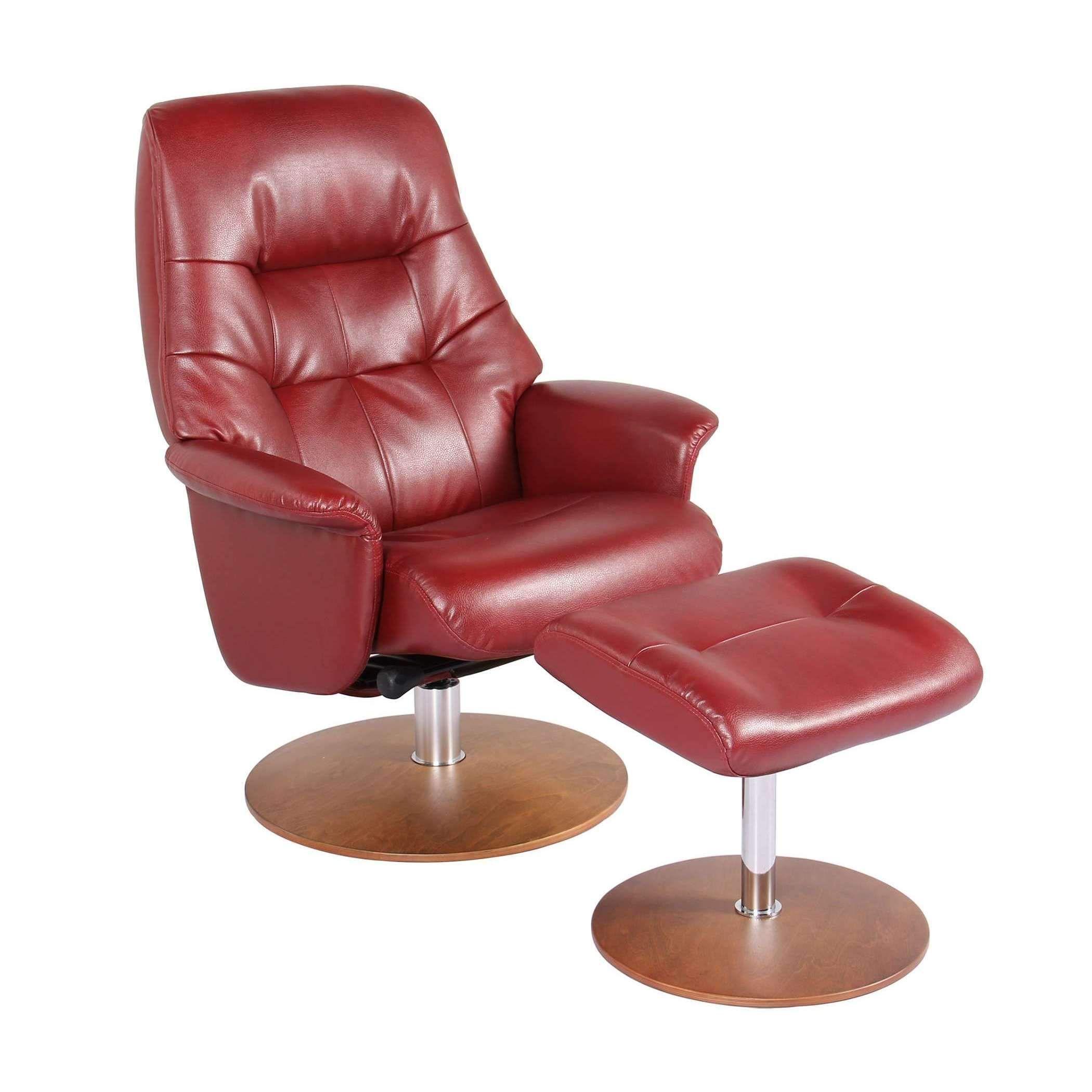 Swivel Recliner Chair & Ottoman Ruby S7667002GP