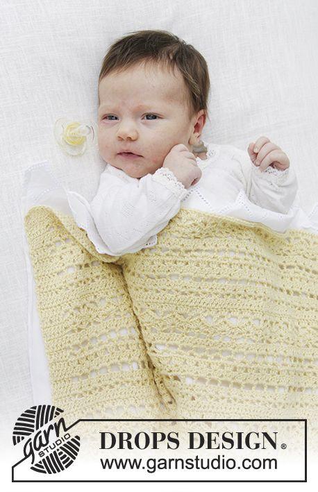 Blooming Lily / DROPS Baby 29-11 - Manta de bebé con patrón de ...