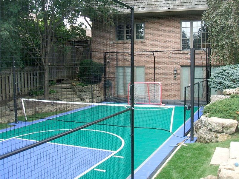 Pin by Nikki B on Backyard Ideas | Basketball court ...
