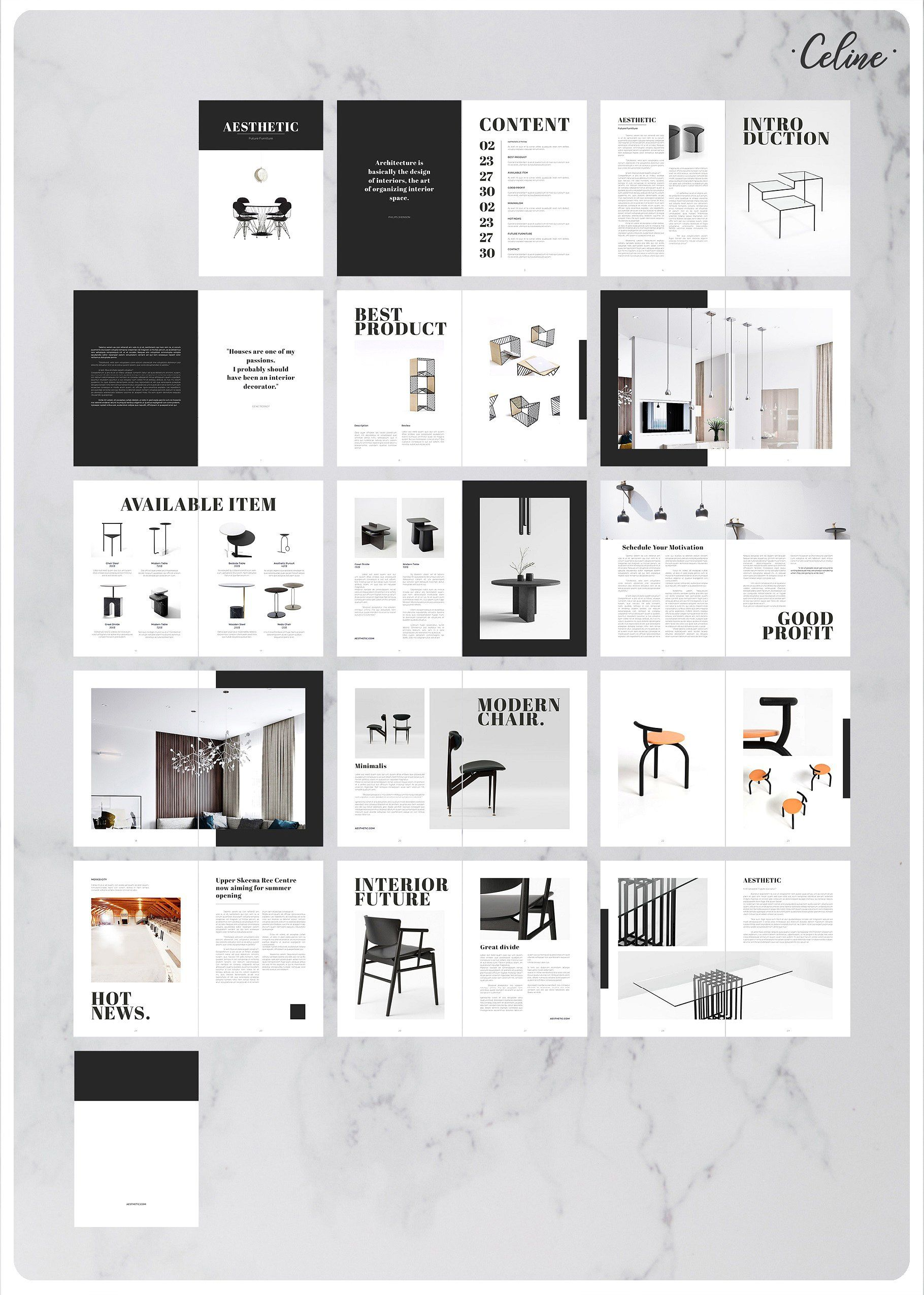 Aesthetic Lookbook Catalog Template Catalog Design Layout