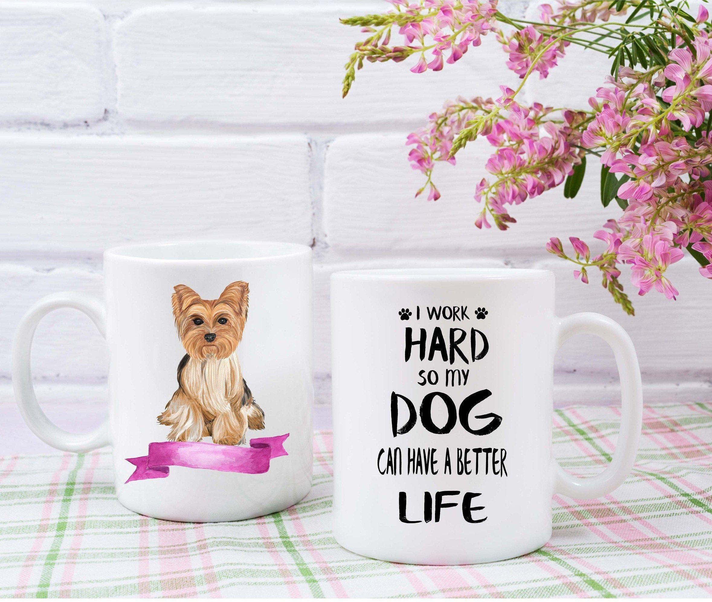 Yorkshire Terrie custom mug dogs lovers custom dogs breeders mugs Mug
