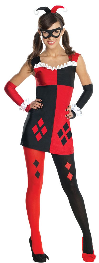 Tween Harley Quinn Costume Itu0027ll be a night of mischief when your girl goes as famed Gothamu2026  sc 1 st  Pinterest & Harley Quinn | halloween | Pinterest | Harley quinn Teen costumes ...