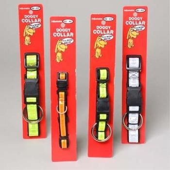 Dog Collars Reflective Nylon Case Pack 96