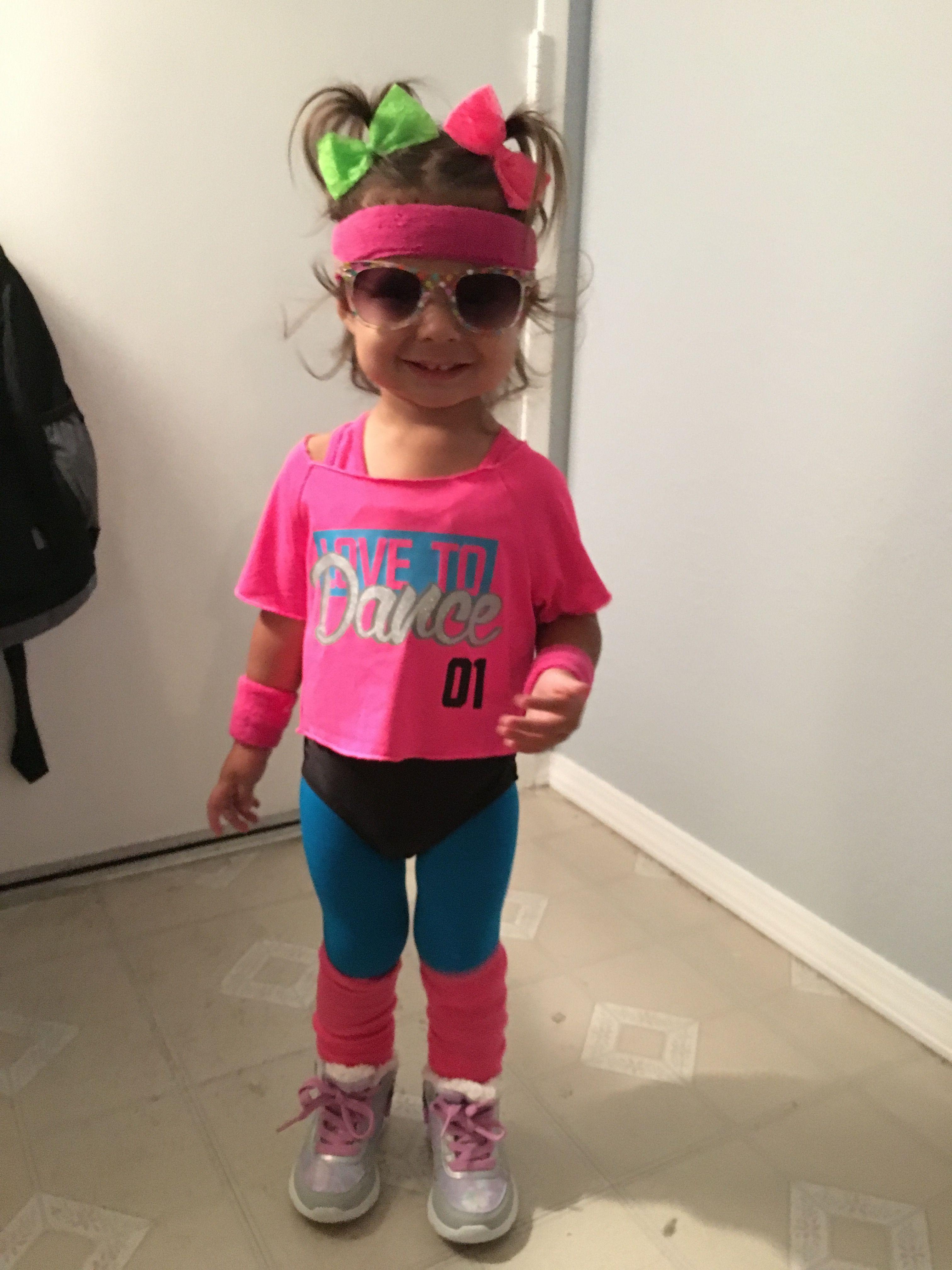 Toddler 80u0027s workout costume  sc 1 st  Pinterest & Toddler 80u0027s workout costume | Halloween | Pinterest | 80 s Workout ...