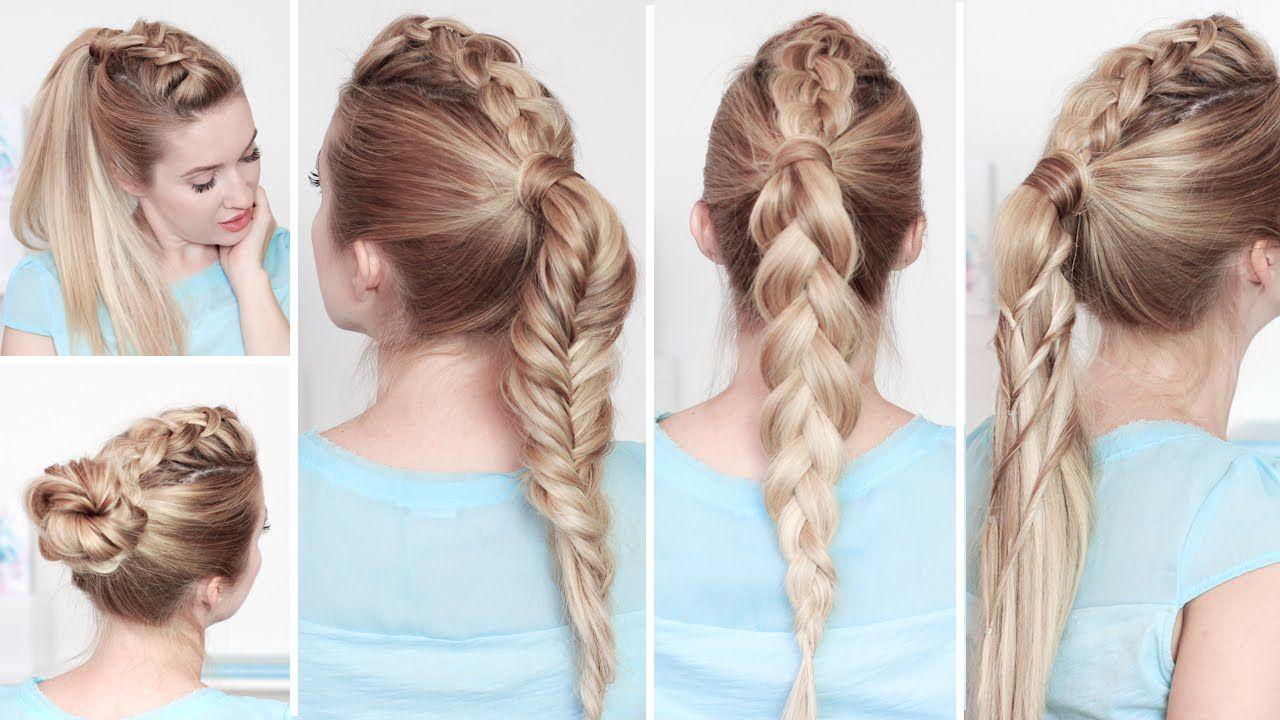 Cheveux Mi Long Boucle Tuto Tutoriel Coiffure Cheveux Mi Longs