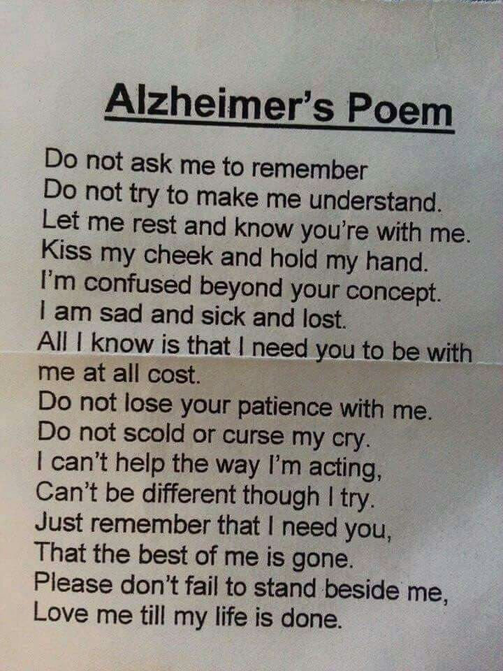 This poem so breaks my heart...my mom | Words | Alzheimers ...