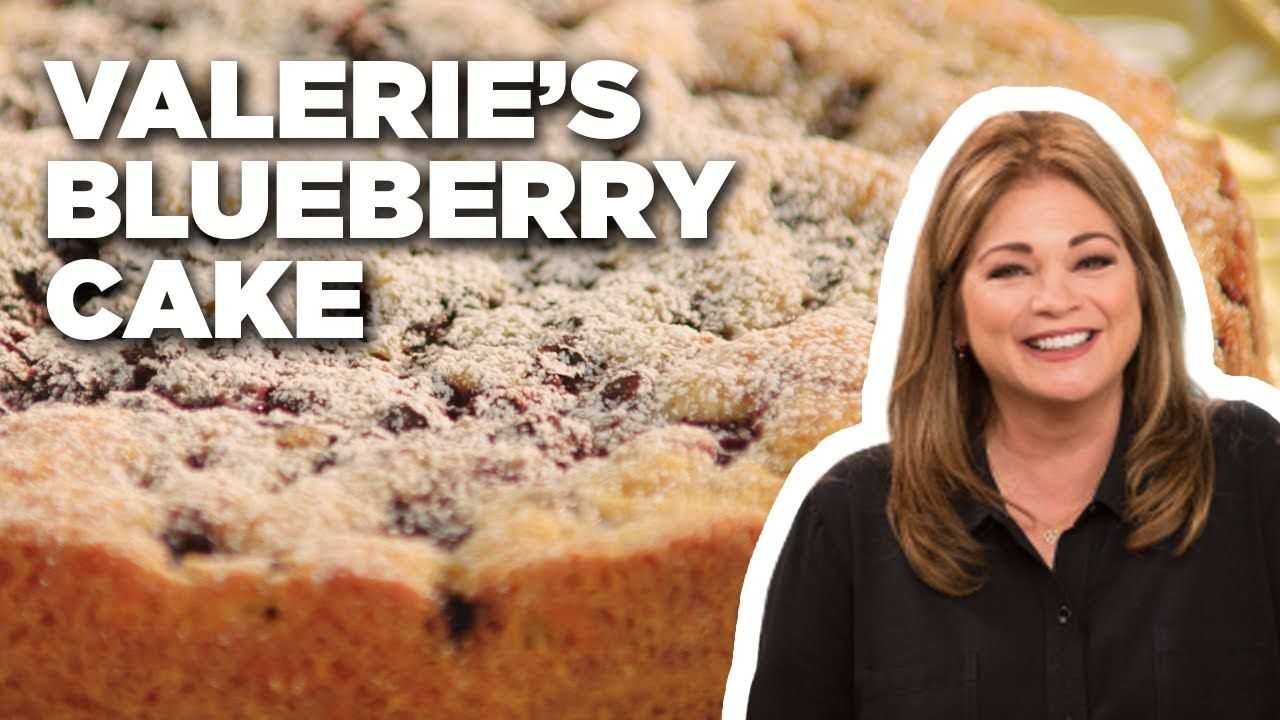 Blueberry Cake With Lemon Mascarpone Cream With Valerie Bertinelli Food Network Youtube In 2020 Blueberry Cake Food Network Recipes Blueberry