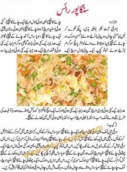 Singapore Rice Recipe In Urdu Spicy Singapore Rice Recipes Spicy Recipes Urdu Recipe