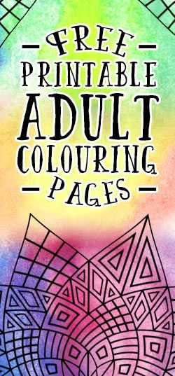 Free Printable Adult Colouring Pages Colouring Pages Pinterest