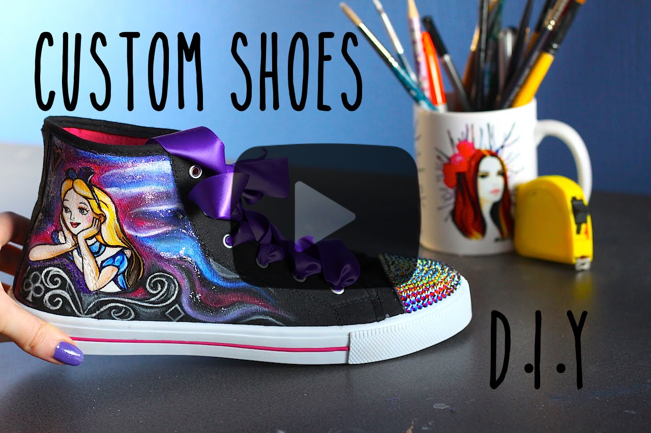Tutorial How to Paint Shoes.See this tutorial here