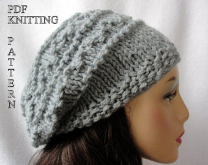 Instant Download PDF Knitting Pattern Braided Cable Chunky Slouchy ...