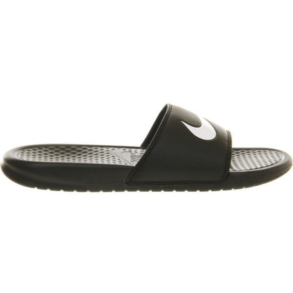 70823198454b NIKE Benassi swoosh slider sandals ( 25) ❤ liked on Polyvore featuring shoes