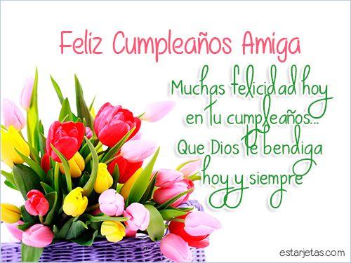 imágenes de cumpleaños para amiga flores tulipanes | Feliz ...