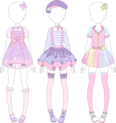 Mra Fairy Kei Designs 1 By Vanillachama Fashion Design Drawings Art Clothes Drawing Clothes