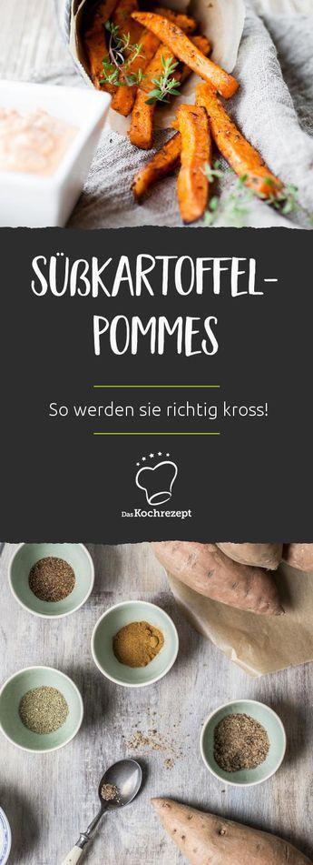 Knusprige Süßkartoffel-Pommes aus dem Ofen – so… #melonrecipes