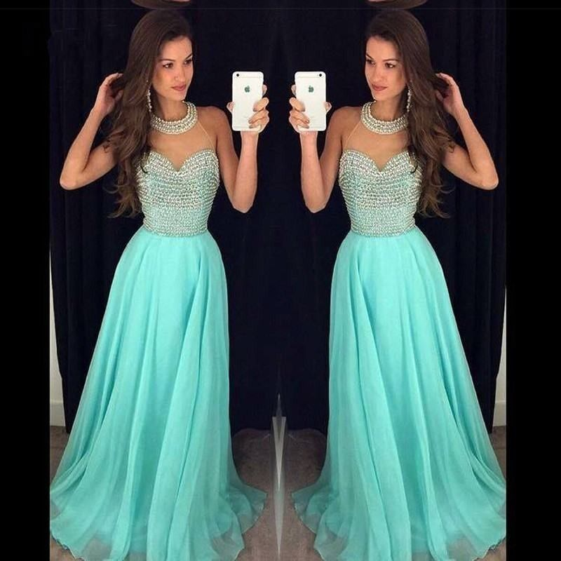 Vestidos de graduacion color aqua