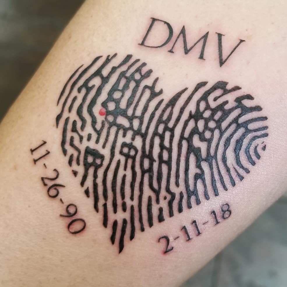 Memorial Tattoo Fingerprint Heart Artist Yvonne Yvonne797