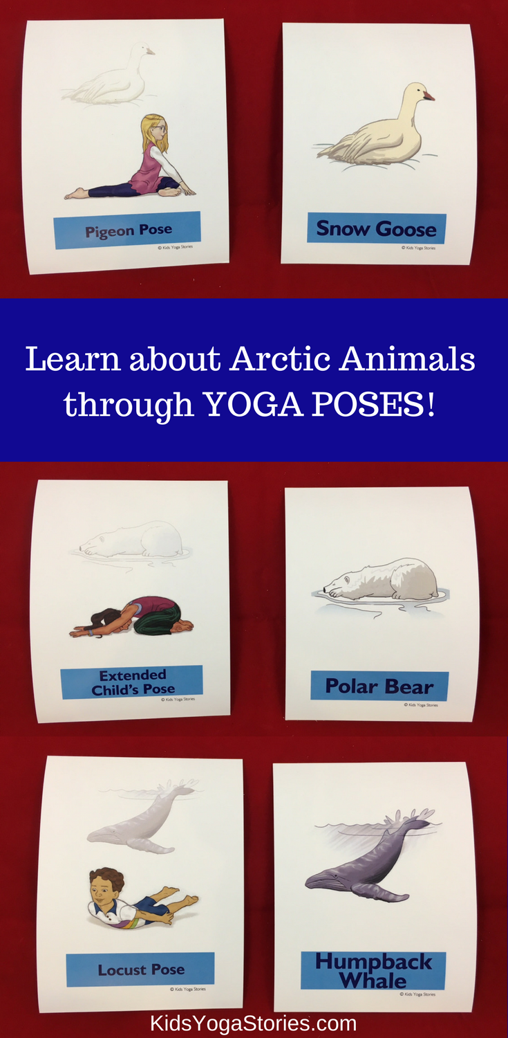 Arctic Animals Yoga Cards For Kids Learn About Arctic Animals Through Simple Yoga Poses For Kids Pretend To Be A Snowy Animal Yoga Arctic Animals Yoga Cards
