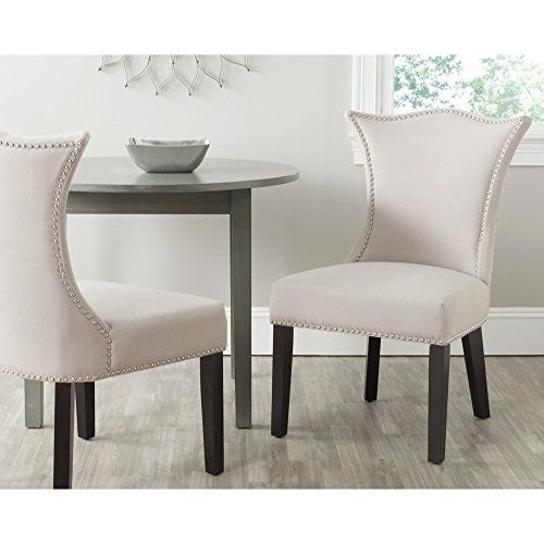 safavieh mercer collection ciara side chair, taupe, set o https