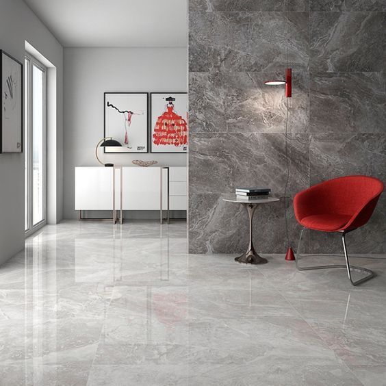 Gala Porcelain Tiles Are Available As Either Cream Or Grey High Gloss Floor Tiles These Beautiful R Tile Floor Living Room Living Room Tiles Floor Tile Design