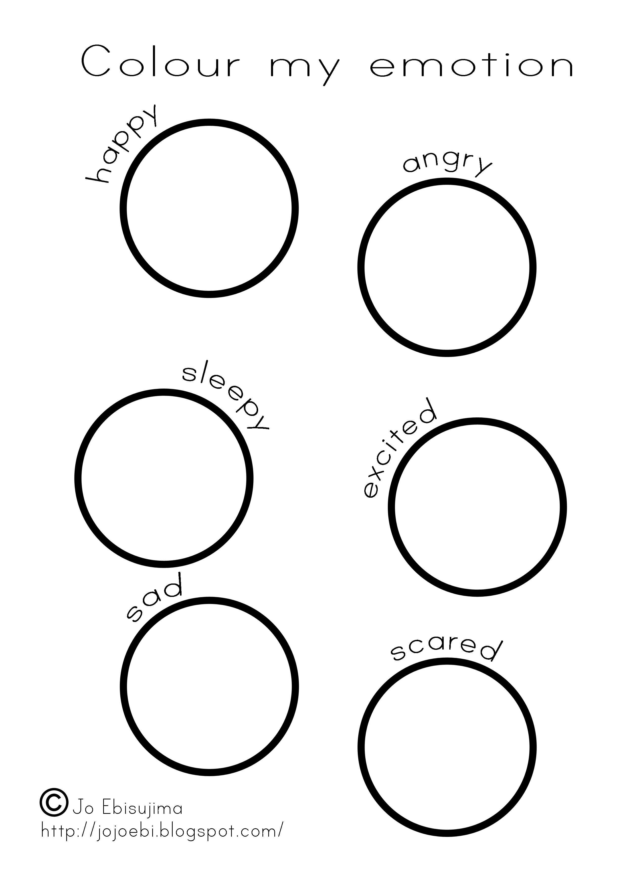 Colour My Emotion Preschool Worksheets Shapes Worksheet Kindergarten Kindergarten Worksheets Printable