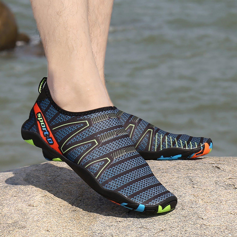 Men Water Shoes Aqua Beach Swim Pool Slip On Surf Socks Barefoot Quick Dry Sport