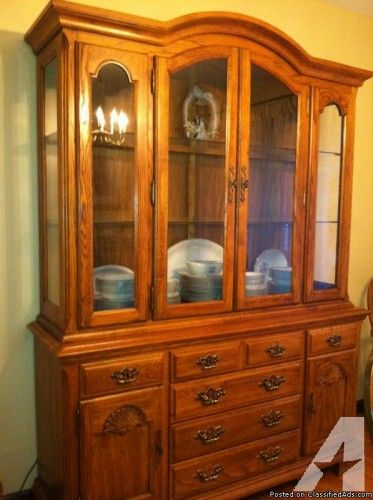 Oak Dining Room Buffet Hutch  Currier & Ives  Pinterest  Oak Adorable Dining Room Set With Hutch Inspiration