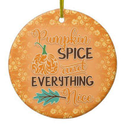Orange Autumn Pumpkin Ornament - home gifts ideas decor special unique custom individual customized individualized