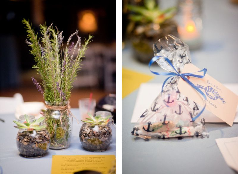 Friendly Rosemary Lavender Succulent Centerpieces Table