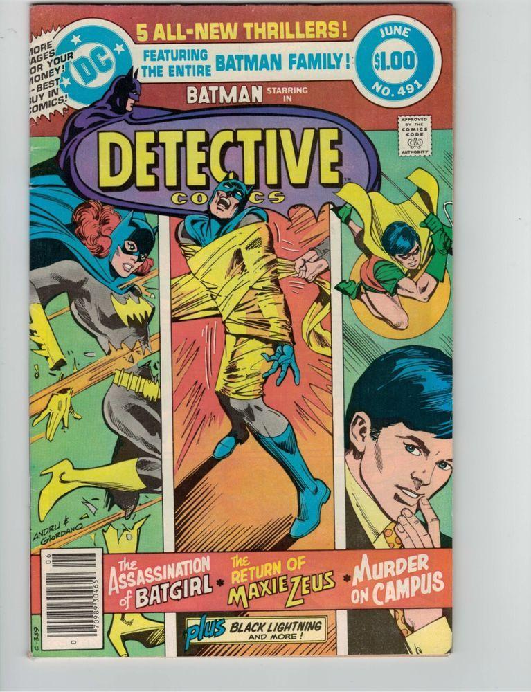 Detective Comics #491 DC Batman Family Robin Batgirl Black Lightning Andru VF