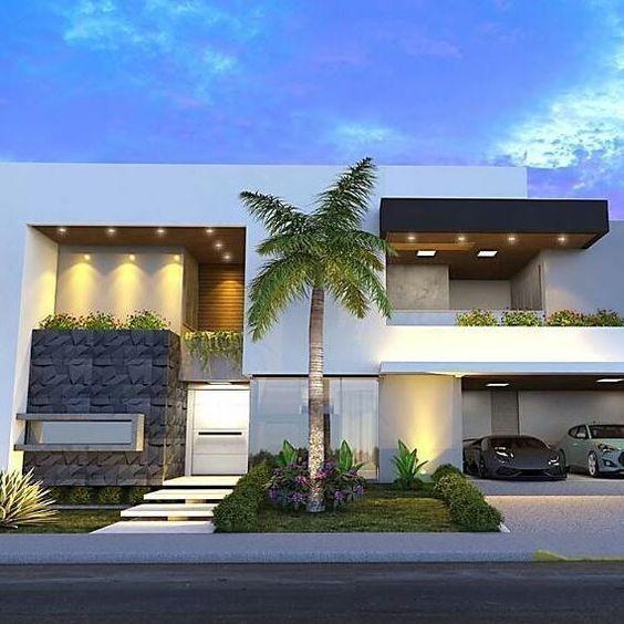 Fachadas de casas modernas raul en 2019 pinterest for Fachadas de casas modernas en la ciudad