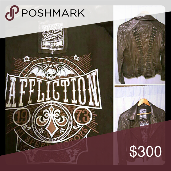 Affliction ladies leather jacket (With images) Leather