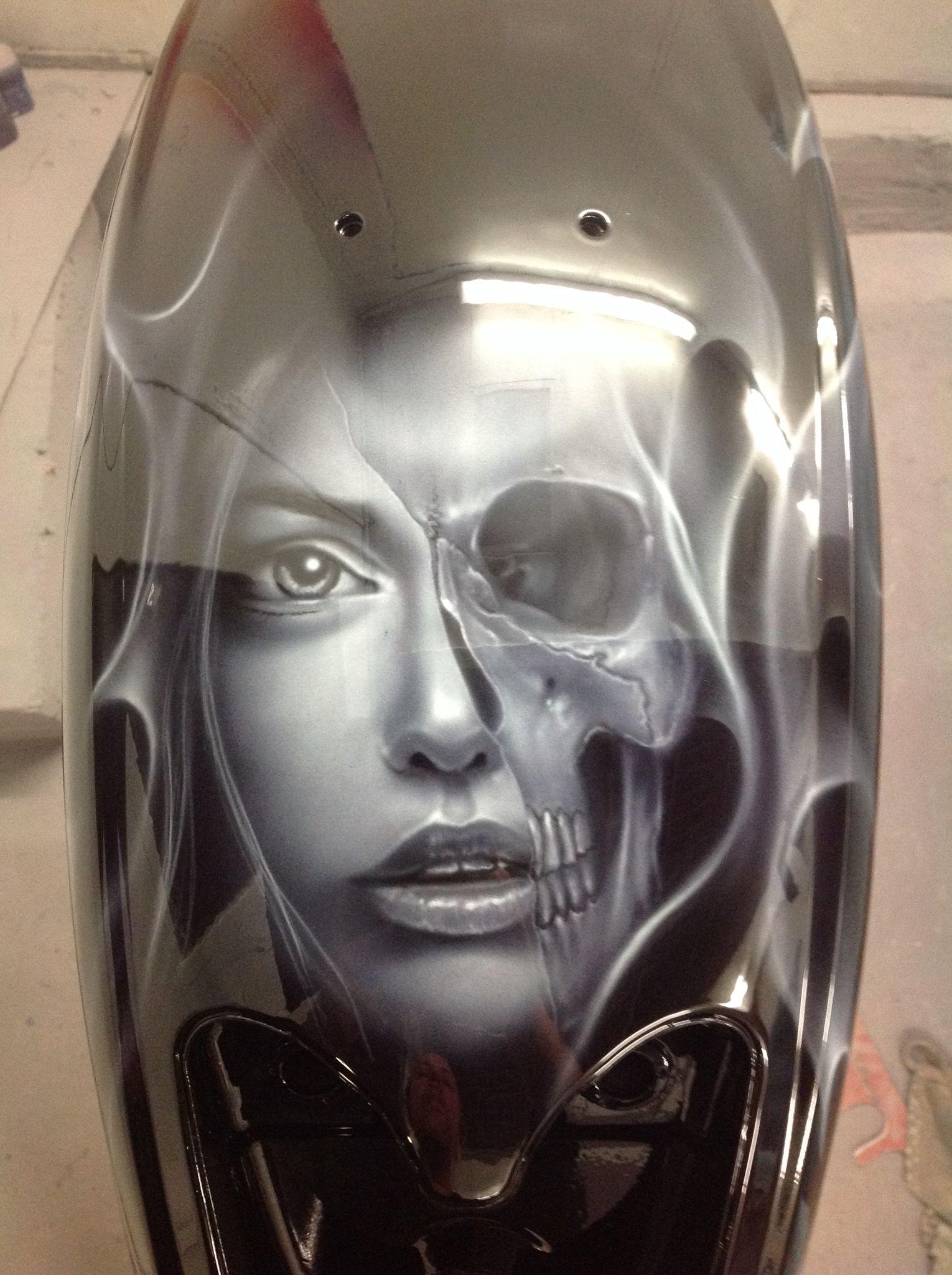 Rear Fender Paint Jobs Custom Motorcycle