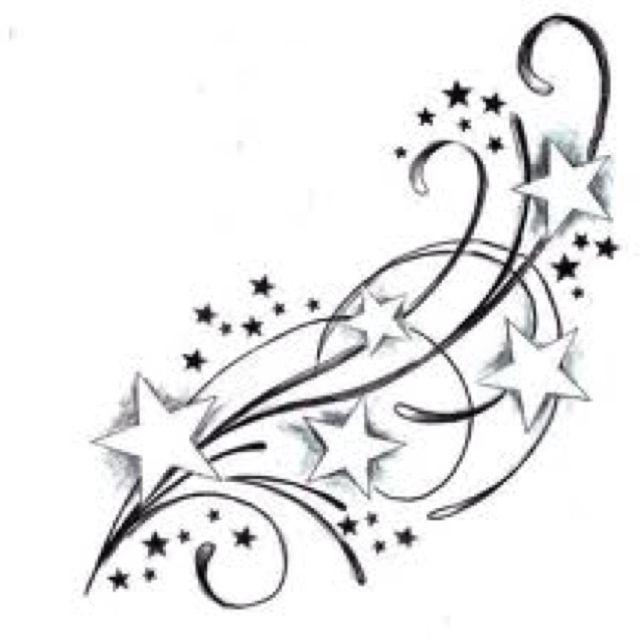 Pin By Belinda Pevitt On For You Rachel Star Tattoos Star Tattoo Designs Shooting Star Tattoo