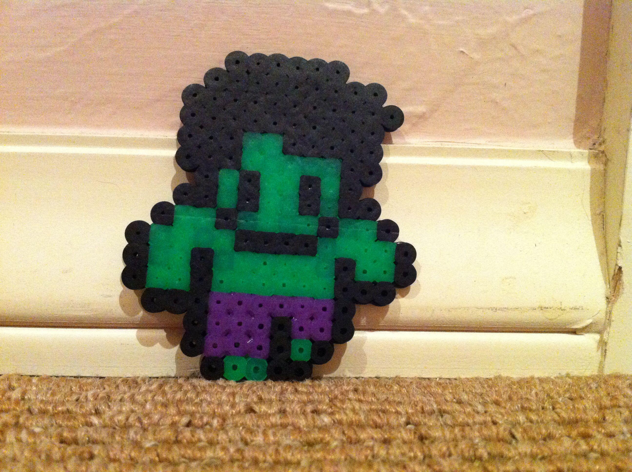 The Hulk Perler Beads  by Sophia S.