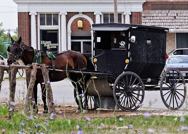 Doing some banking Jamesport Missouri Amish town