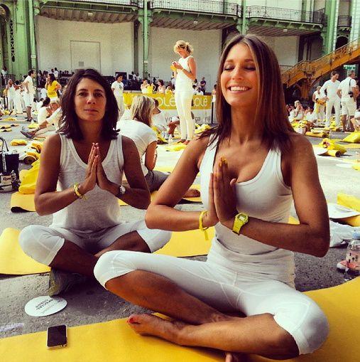 yoga laury thilleman estelle denis election marine lorphelin miss france 2013 pinterest. Black Bedroom Furniture Sets. Home Design Ideas