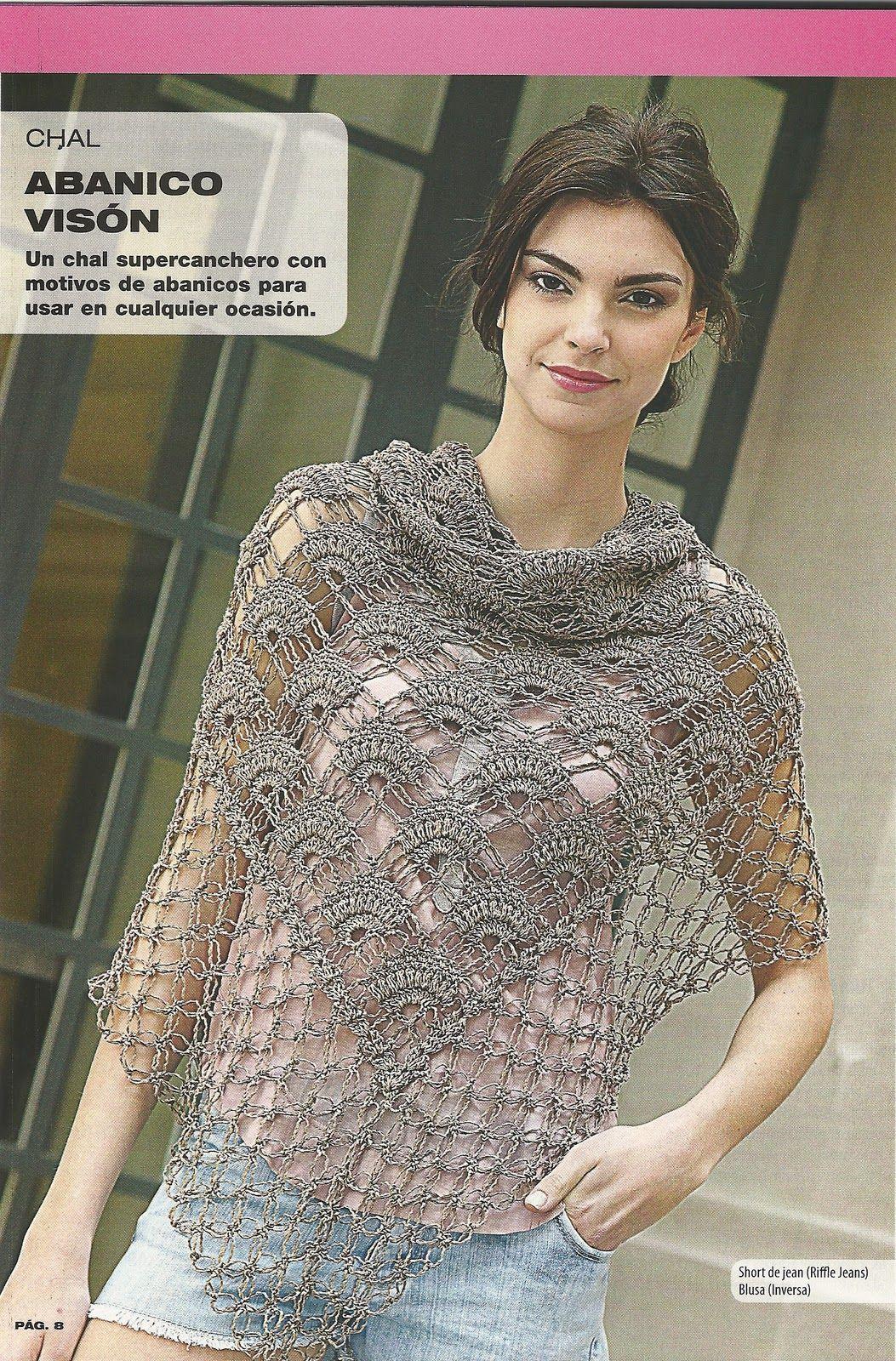 free pattern + chart | crochet ponchos | Pinterest | Chal, Ponchos y ...