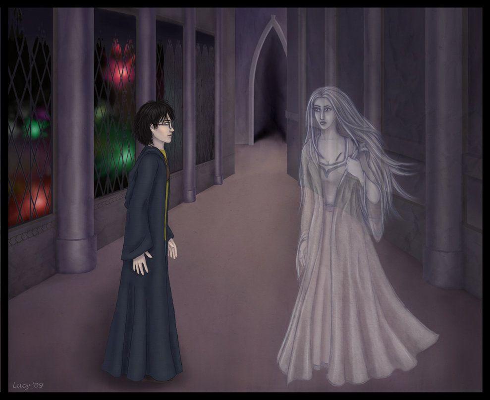La Lady Grey , soprannome per Helena Corvonero, il fantasma di Corvonero Casa nei romanzi di Harry Potter