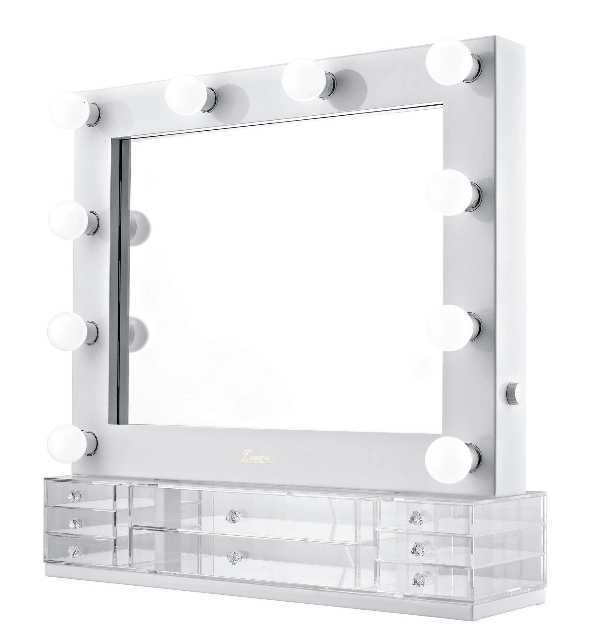 The Valentina Glossy White Glamour Makeup Mirror In 2019
