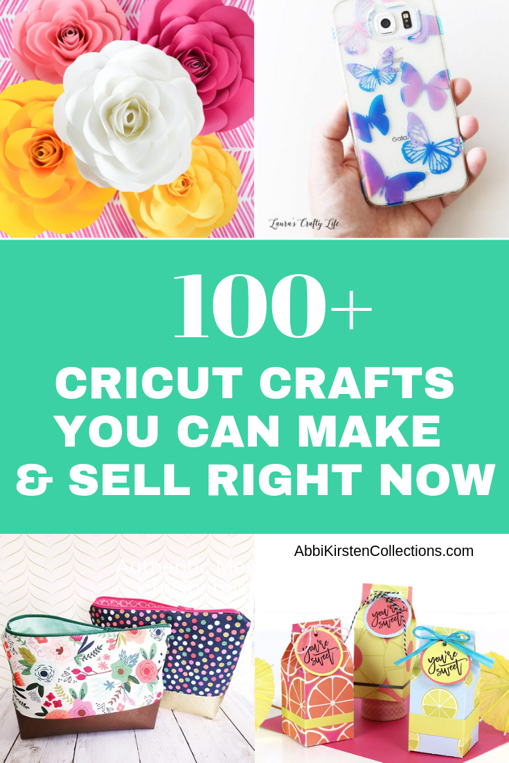 Over 100 of the Best Cricut Crafts to Make and Sell! #craftstosell