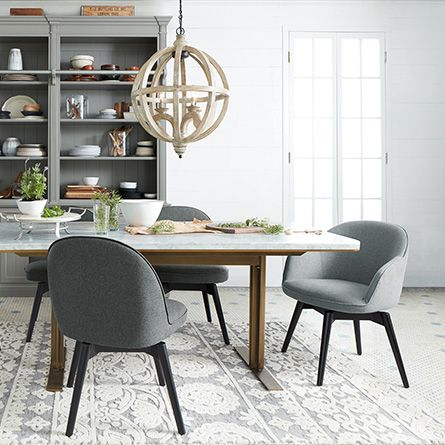 Emily Swivel Arm Chair in Sunday Spa | Dining room chairs ...