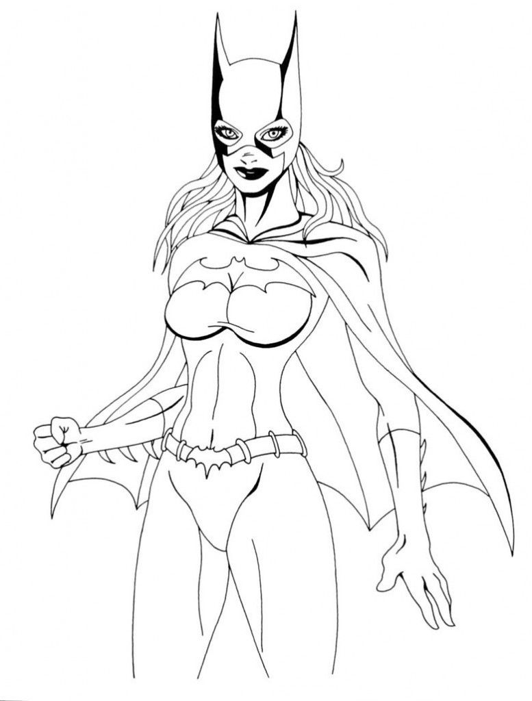 free printable batgirl coloring pages ic book coloring pages